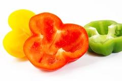 Groene paprika op wit Stock Foto