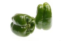 Groene paprika's Stock Afbeelding