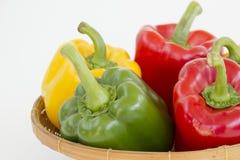 Groene paprika's Stock Afbeeldingen