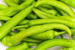 Groene paprika's Royalty-vrije Stock Afbeeldingen