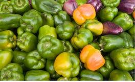 Groene paprika's bij de Markt Royalty-vrije Stock Foto
