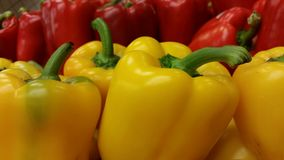 Groene paprika's in Geel en Rood Royalty-vrije Stock Afbeelding