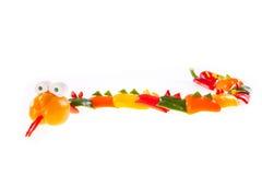 Groene paprika - slang Royalty-vrije Stock Afbeeldingen