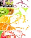 Groene paprika in Water Royalty-vrije Stock Foto's