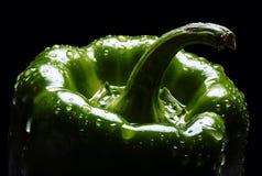 Groene paprikaportret Stock Foto