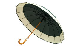 Groene Paraplu op Witte Achtergrond Royalty-vrije Stock Foto's