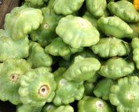 Groene pasteitje panpompoen, Cucurbita-pepo Stock Fotografie