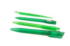 Groene pennen stock foto