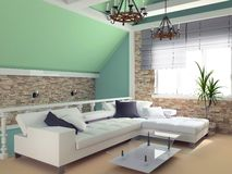 Groene penthouse Royalty-vrije Stock Foto's
