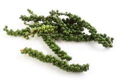 Groene peperbollen op de steenvruchten Royalty-vrije Stock Foto
