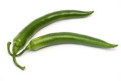 Groene pepperoni Stock Foto's
