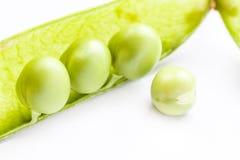 Groene peul en erwten. royalty-vrije stock foto