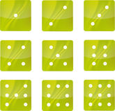 Groene pictogrammen Stock Foto