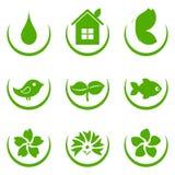 Groene Pictogrammen Eco vector illustratie