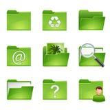 Groene pictogrammen set3 Stock Afbeelding