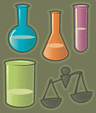 Groene pictogrammen voor farmacie Stock Foto