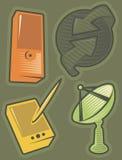 Groene pictogrammen voor mededelingen Royalty-vrije Stock Afbeeldingen
