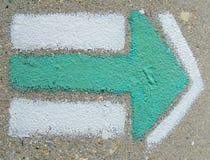 Groene pijl Stock Foto