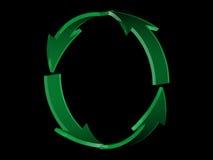 Groene pijlen 2 Stock Afbeeldingen