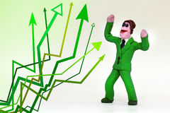 Groene pijlen omhoog Stock Foto's