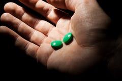 Groene pillen royalty-vrije stock foto