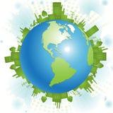 Groene planeet stock illustratie