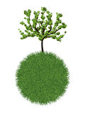 Groene planeet Royalty-vrije Stock Foto