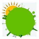 Groene planeet Royalty-vrije Stock Afbeeldingen