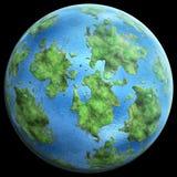 Groene Planetgreen-planeet gelijkend op aarde royalty-vrije illustratie
