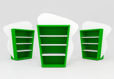 Groene planken Stock Foto