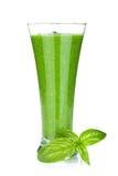 Groene plantaardige smoothie Stock Foto's