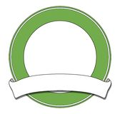 Groene plaque stock illustratie