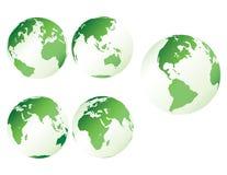 Groene plastic aarde Royalty-vrije Stock Afbeeldingen