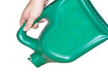 Groene plastic brandstof stock foto's