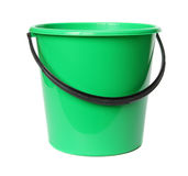 Groene plastic emmer. Royalty-vrije Stock Foto's