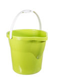 Groene plastic emmer Royalty-vrije Stock Foto