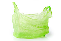 Groene plastic geïsoleerde zak Royalty-vrije Stock Foto's