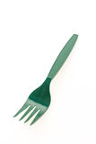 Groene plastic vorken Stock Afbeelding