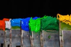 groene plastisol inkt op het puinhandvat Stock Fotografie