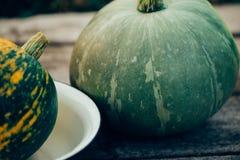 Groene pompoen, close-up royalty-vrije stock afbeelding