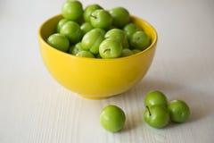 Groene pruimen Stock Foto's