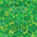 Groene Ramadanster velen het naadloze patroon van de kleurensymmetrie Stock Foto's