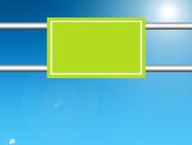 Groene reclame stock illustratie