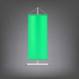 Groene reclametribune Lege vectorillustratie Stock Afbeelding