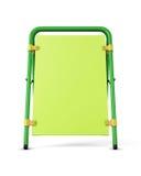 Groene reclametribune op witte achtergrond Malplaatje p Stock Fotografie