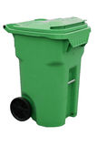 Groene recyclingscontainer Royalty-vrije Stock Afbeeldingen