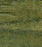 Groene reptielleertextuur stock afbeeldingen
