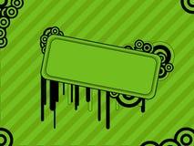 Groene retro achtergrond Stock Foto's