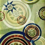Groene retro cirkels Stock Foto's