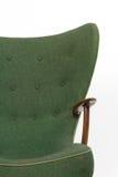 Groene retro leunstoel Stock Foto's